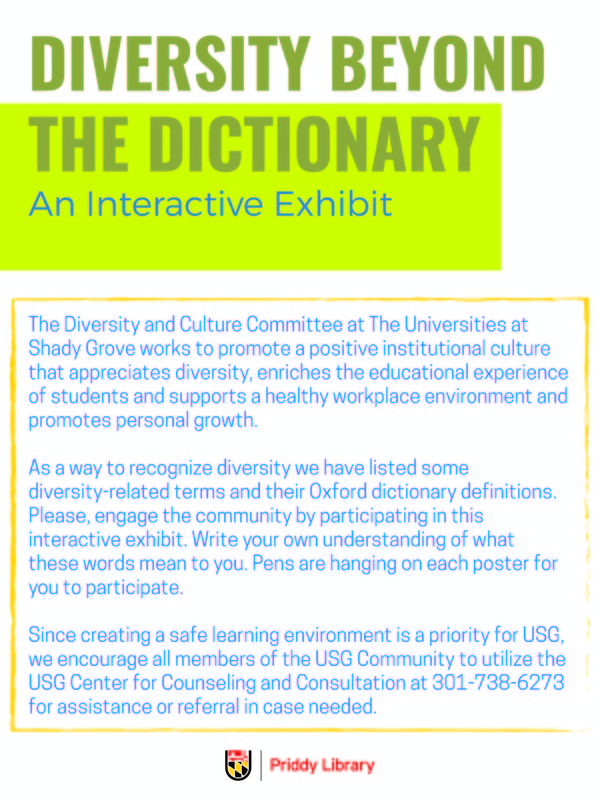 Diversity Beyond the Dictionary: An Interactive Exhibit